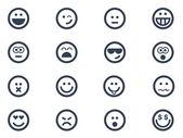 Iconos de sonrisa — Vector de stock