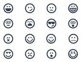 Smile icons — Stock Vector