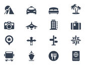Vacation and travel icons — Stockvector