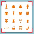 Stock Vector: Clothing icons. Women