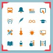 School icons — Stock Vector #42455091