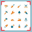 Stock Vector: Renovation tools