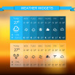 Stock Vector: Weather widget