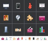 Business icons — Stockvector