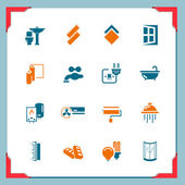 Home renovation icons — Stock Vector