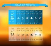 Weather widget — Stock Vector