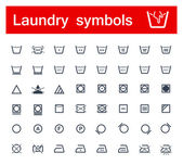 Laundry symbols — Stock Vector