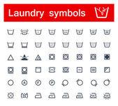 Laundry symbols — Stock Vector