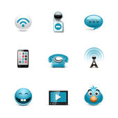 Social and communication icons — Stock Vector