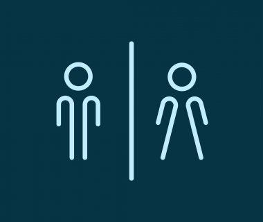 Public toilet symbols