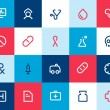 Medical and healthcare icons. Flat — Stock Vector #43829535