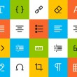 Formatting and editing icons. Flat — Stock Vector #43829547