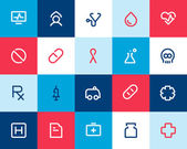 Medical and healthcare icons. Flat — Stock Vector