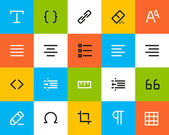 Formatting and editing icons. Flat — Stock Vector