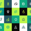 Science icons set. Flat — Stock Vector #43867501