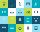 Office icons set. Flat — Stock Vector