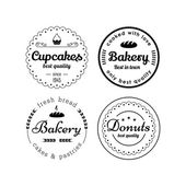 Bakery and cupcakes labels — Stock Vector