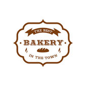 Bakery label — Stock Vector
