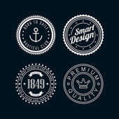 Vintage badges white 3 — Stock Vector