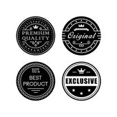 Retro badges — Vettoriale Stock