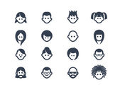 Avatar icons 2 — Vettoriale Stock