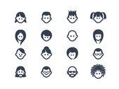 Avatar icons 2 — ストックベクタ