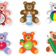 BABY ICONS,TEDDY BEAR. — Stock Photo