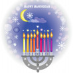 Hanukkah,menorah with candles . — Stock Photo