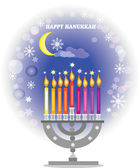 Hanukkah,menorah with candles . — Zdjęcie stockowe