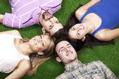 Leżąc na trawie — Zdjęcie stockowe
