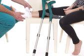 Crutched 踝关节 — 图库照片