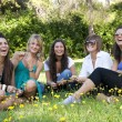 Girls in a park — Stock Photo