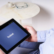 FaceBook on Tablet — Stock Photo