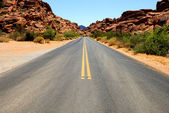 Road in Nevada — 图库照片