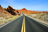 Road in Nevada — Stok fotoğraf
