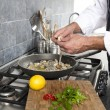 Stock Photo: People cooking