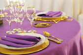 Fine table setting — Stock Photo