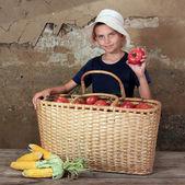 The farmer son. — Stock Photo