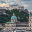 Royalty-Free Stock Photo: Old City and Castle Hohensalzburg in Morning