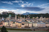 Castle Hohensalzburg and Old City — Stock Photo