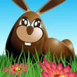 Royalty-Free Stock Vector Image: Easter rabbit and eggs