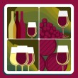 Wine production — Vector de stock