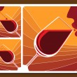 Stock Vector: Wine tasting collage