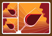 Wine tasting collage — Stock Vector