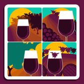 Viticulture and wine — Stock Vector