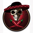 Mexican skull emblem or icon — Stock Vector #46952107