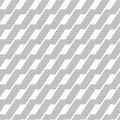 Vector dots asymmetric seamless pattern — Stock Vector