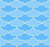 Blue clouds seamless pattern — Stock Vector