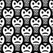 Angry sneaky smiley seamless pattern — Stock Vector