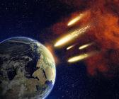 Terre et astéroïdes — Photo